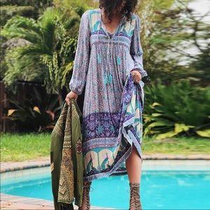 Dresses & Skirts - Opal Xanadu Boho Gypsy Maxi Dress Blue Purple